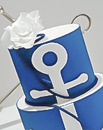 nautical theme boy's christening cake