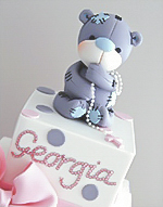 Tatty Bear Girls Christening Cake