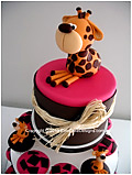 Giraffe cupcakes for girls or boys Christening