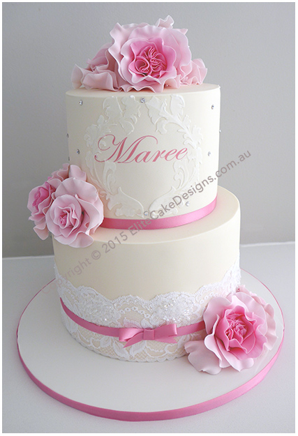 French style girls Christening Cake