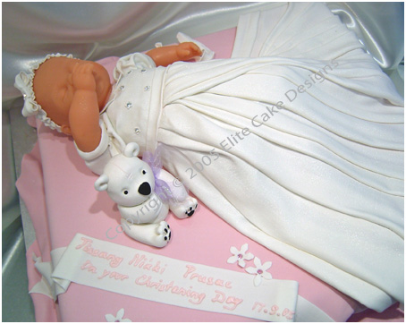 Sleeping Baby Girl Christening Cake Sydney