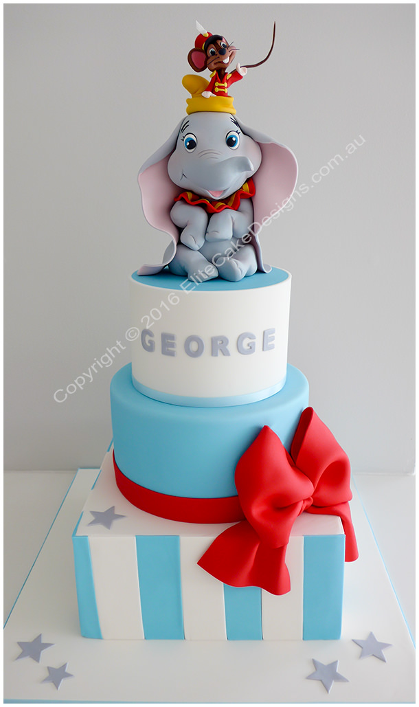 Boys Christening cake idea
