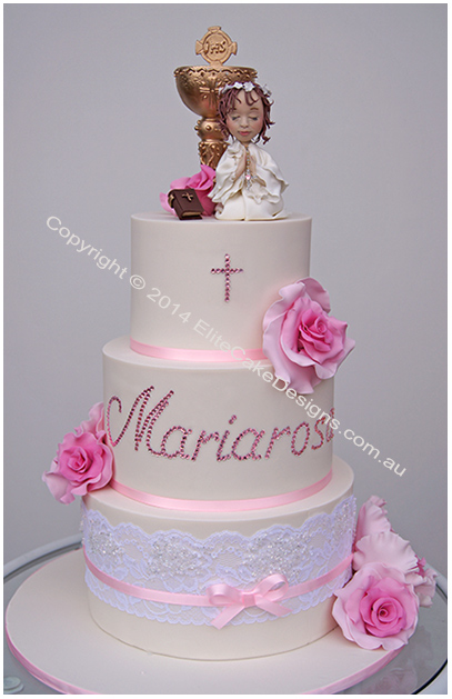 Holy Communion Baptism Cake for a girl