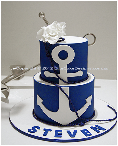 Nautical Christening cake for a boy