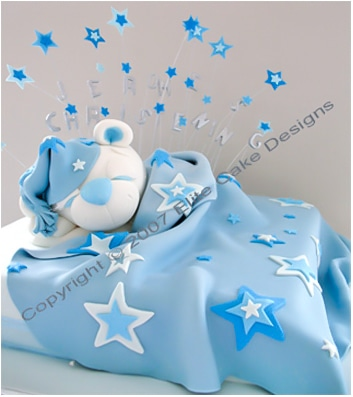 Teddy Christening  Cake for boys or girls