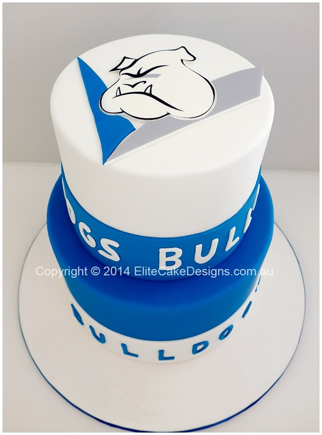 Bulldogs corporate cake in Sydney