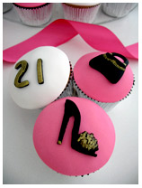 Fashion Theme 21st Birthday Cupcakes