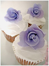 purple Rose Cupcakes