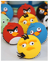 Angry Birds cupcakes in Sydney