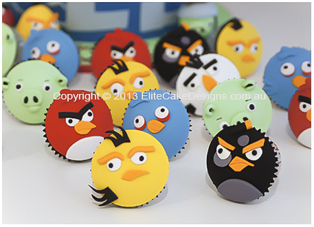 Angry Birds cupcakes for kids birthday