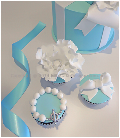 Exclusive Tiffany and Co designer cupcakes