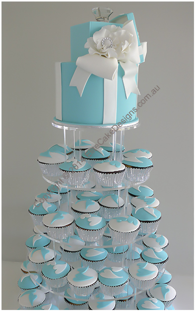 Tiffany and Co Cupcakes for Engagement