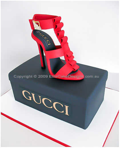 Stiletto shoe birthday cake