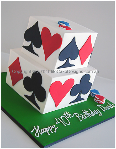 casiino playing cards cake
