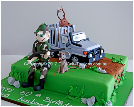 Hunter novelty birthday cake