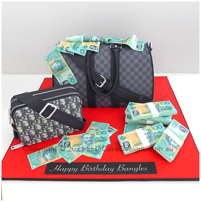 Louis Vuitton Keepall Bandouliere and Christian Dior Pouch Novelty cake in Sydney