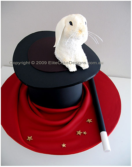 Magician's Hat bunny cake