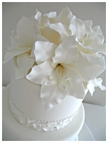 Wedding Cake with lilies