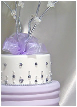 Roses & Crystals cake